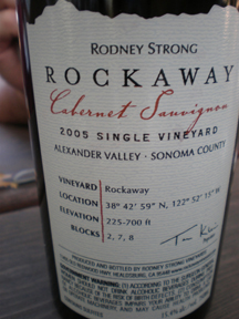 Rockaway back label