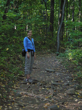 Megan at the start of the hike