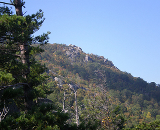 View of the rocky summit